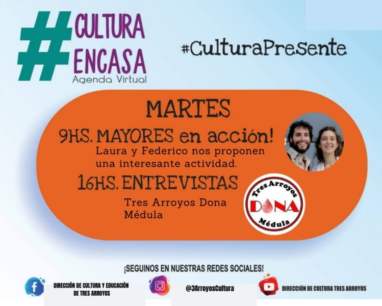 Agenda Cultural Virtual para este martes