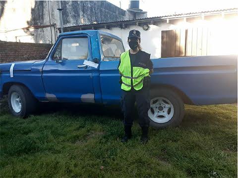 Secuestraron una camioneta en un operativo de control en Cascallares