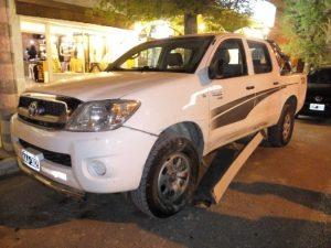Choque sin heridos en pleno centro de Claromecó