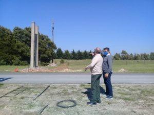 El intendente Sánchez supervisó varias obras en Claromecó