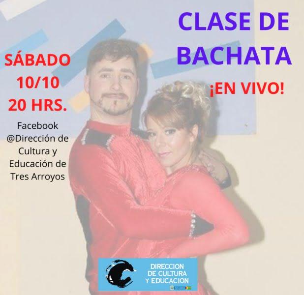 Clase de bachata en vivo el sábado por Facebook Live