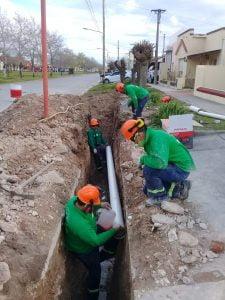 Corte de tránsito en Ameghino y San Lorenzo por obra de cloacas