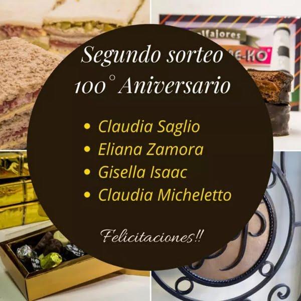 Segundo Sorteo 100° Aniversario Confitería La Perla