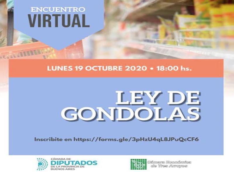 Se realiza un encuentro virtual por la Ley de Góndolas