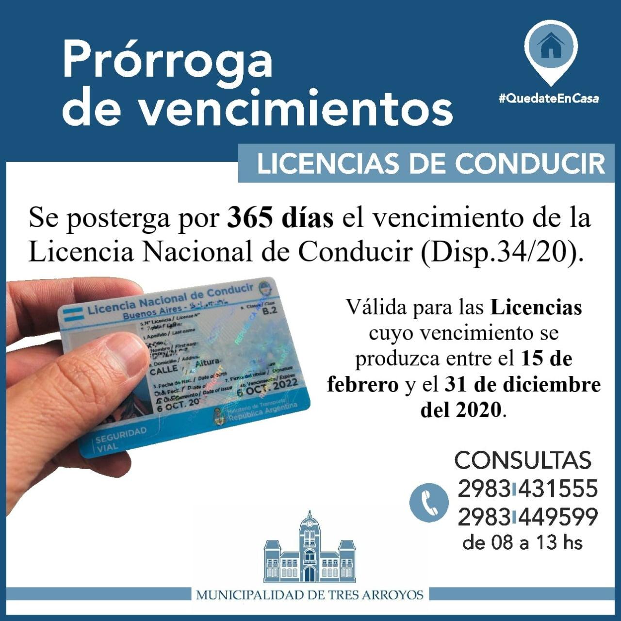 Licencias de conducir: hay otra prórroga de los vencimientos