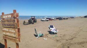 Con un clima excepcional, la primavera invitó a la playa en Claromecó