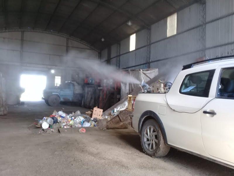 Desinfección en la Planta de Reciclado de Bellocq