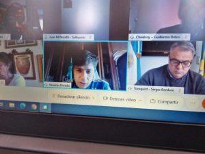 Sánchez habló con Kicillof sobre la actualidad sanitaria y económica del distrito