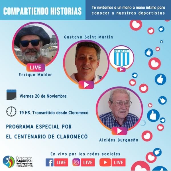 """El viernes """"Compartiendo Historias"""" de Claromecó relacionadas con el Deporte"""
