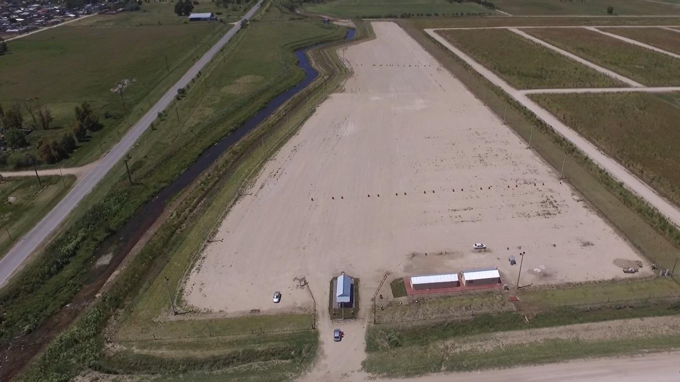 Vista aérea de la playa de estacionamiento de camiones inaugurada ayer (video)