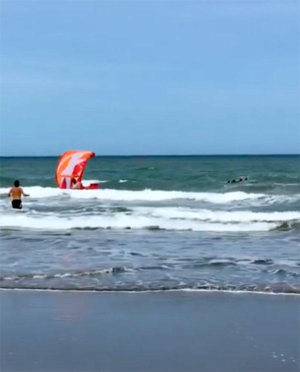 Benicio Arias justificó el rescate del kitesurfer por los Guardavidas