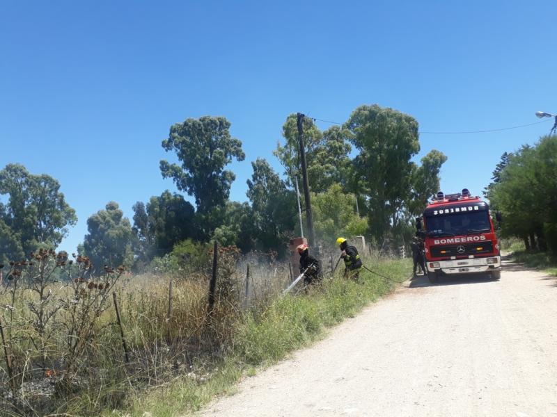 Incendio de pastizales en la calle Paso al 2500 (video)