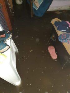 Dolores inundada, con casi un metro de agua en algunas de las calles