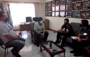 Presencia de funcionarios de Defensa Civil en San Cayetano