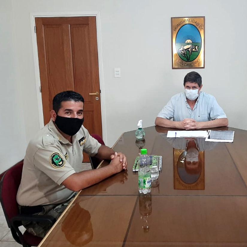 Gargaglione se reunió con el Director Operativo Sur del CPR