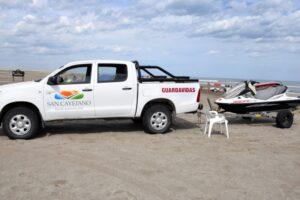 San Cayetano: prevención junto al mar