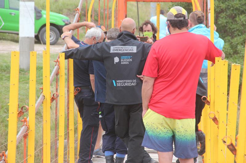 Por la tormenta en Claromecó suspendieron la búsqueda de Barreto