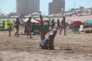 Claromecó vivió un lunes a pleno verano
