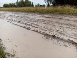 """Lamberti: """"Las lluvias impiden mantenimiento en  calles de Claromecó"""""""