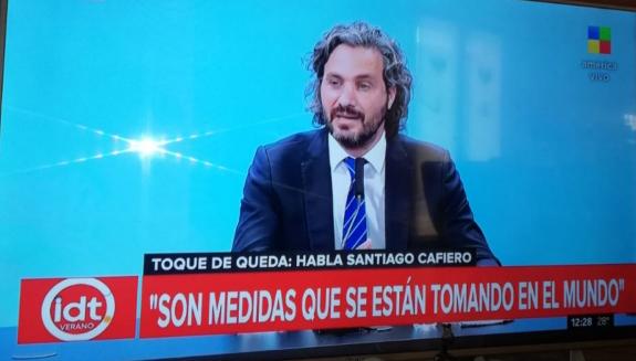 """Santiago Cafiero: """"Lo que se hace a nivel nacional es fijar pautas, pero quienes deben aplicar las medidas son las autoridades locales"""""""