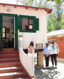 Noemí Rivas realizó ayer una recorrida por los espacios culturales de Reta