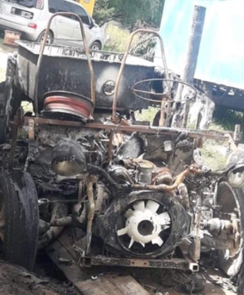 Incendio de un vehículo en Claromecó: Presumen que fue intencional