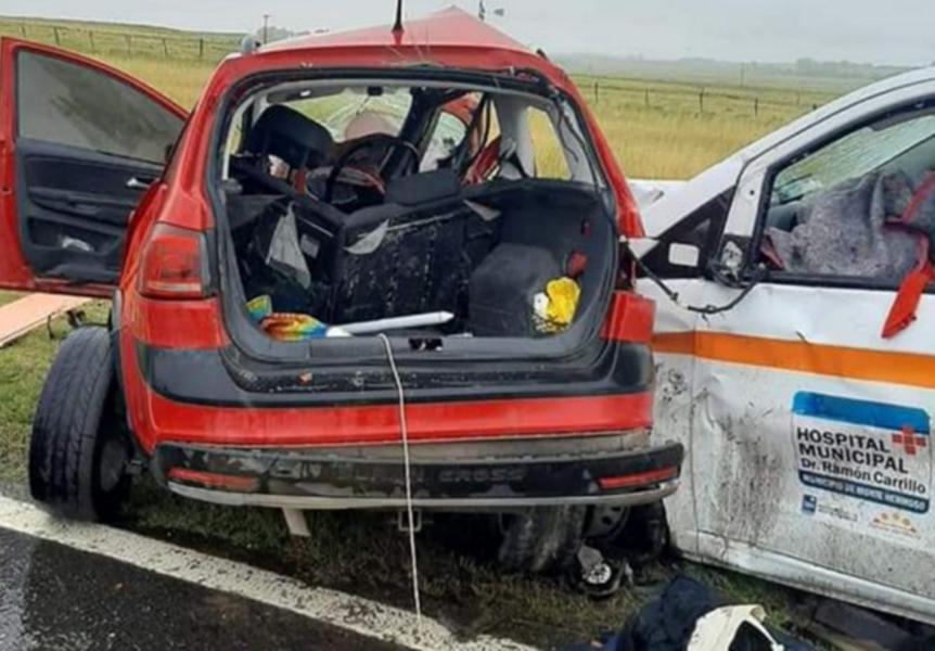Accidente fatal en Ruta 3: Murió una paciente que iba en la ambulancia
