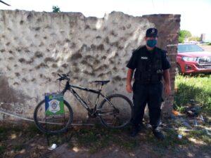 Recuperan bicicleta robada y aprehenden a un menor en Claromecó