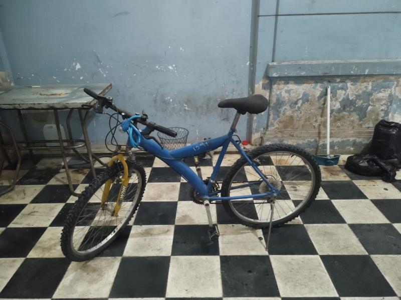 Hallaron una bicicleta en la vía pública