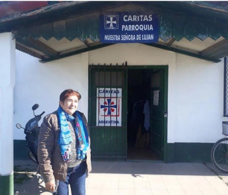 Nueva feria: Cáritas de Luján acompaña a las familias