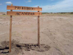 Orense: colocación de cartelería por parte de la Dirección de Turismo y el Destacamento Policial