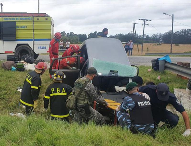 Mueren dos mujeres al despistarse en Ruta 2 a la entrada a Mar del Plata