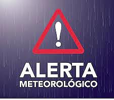 Alerta Rojo por lluvias intensas y tormentas aisladas