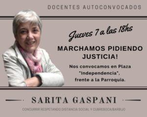 Juárez: docentes marcharán para pedir Justicia por Sarita Gaspani