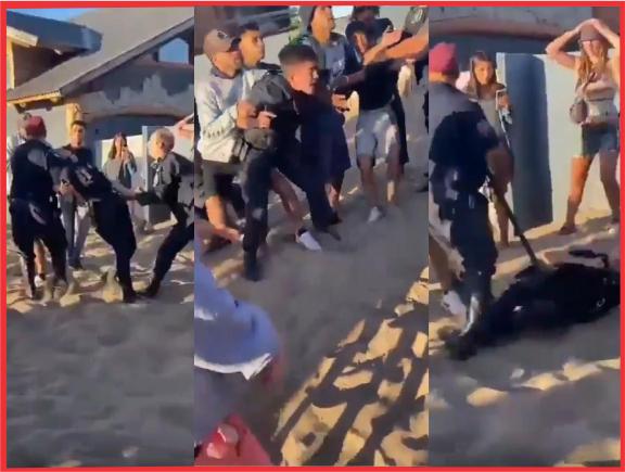 Incidentes con la policía en la noche violenta de Claromecó (video)
