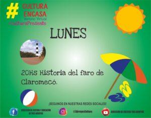 """""""Historia del faro de Claromecó"""" en la Agenda Virtual de Cultura"""