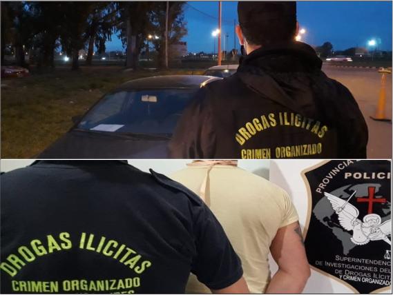 Tres Arroyos: rosarino preso. Llevaba drogas y agredió a una policía