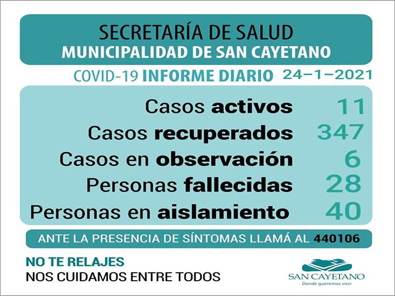 Coronavirus en San Cayetano: