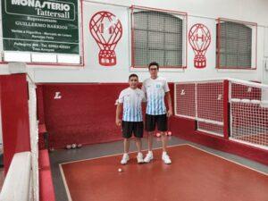 Ezequiel Barrios y Martín Aristain ganaron el torneo de bochas de Huracán