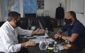 Garate se reunió con el responsable del ENOHSA