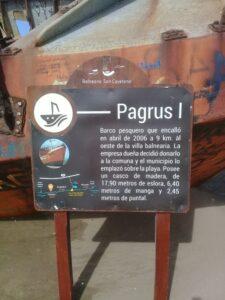 El Pagrus I, horas antes del temporal