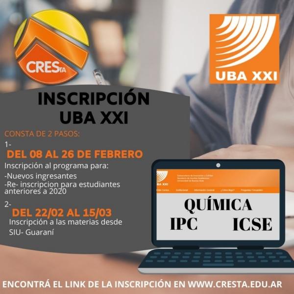 CRESTA: abierta la inscripción para el programa UBA XXI virtual