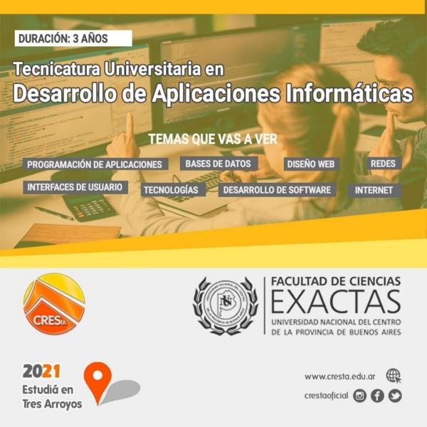 Cierre de inscripción para Desarrollo de Aplicaciones Informáticas en CRESTA