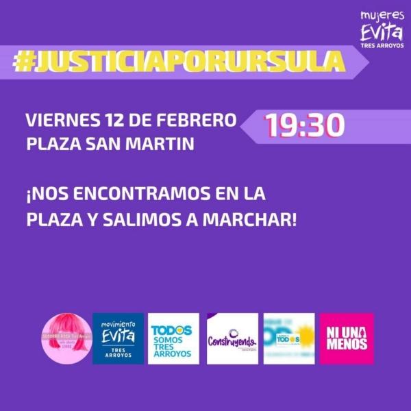 Femicidio de Úrsula: convocan a una marcha en Plaza San Martín
