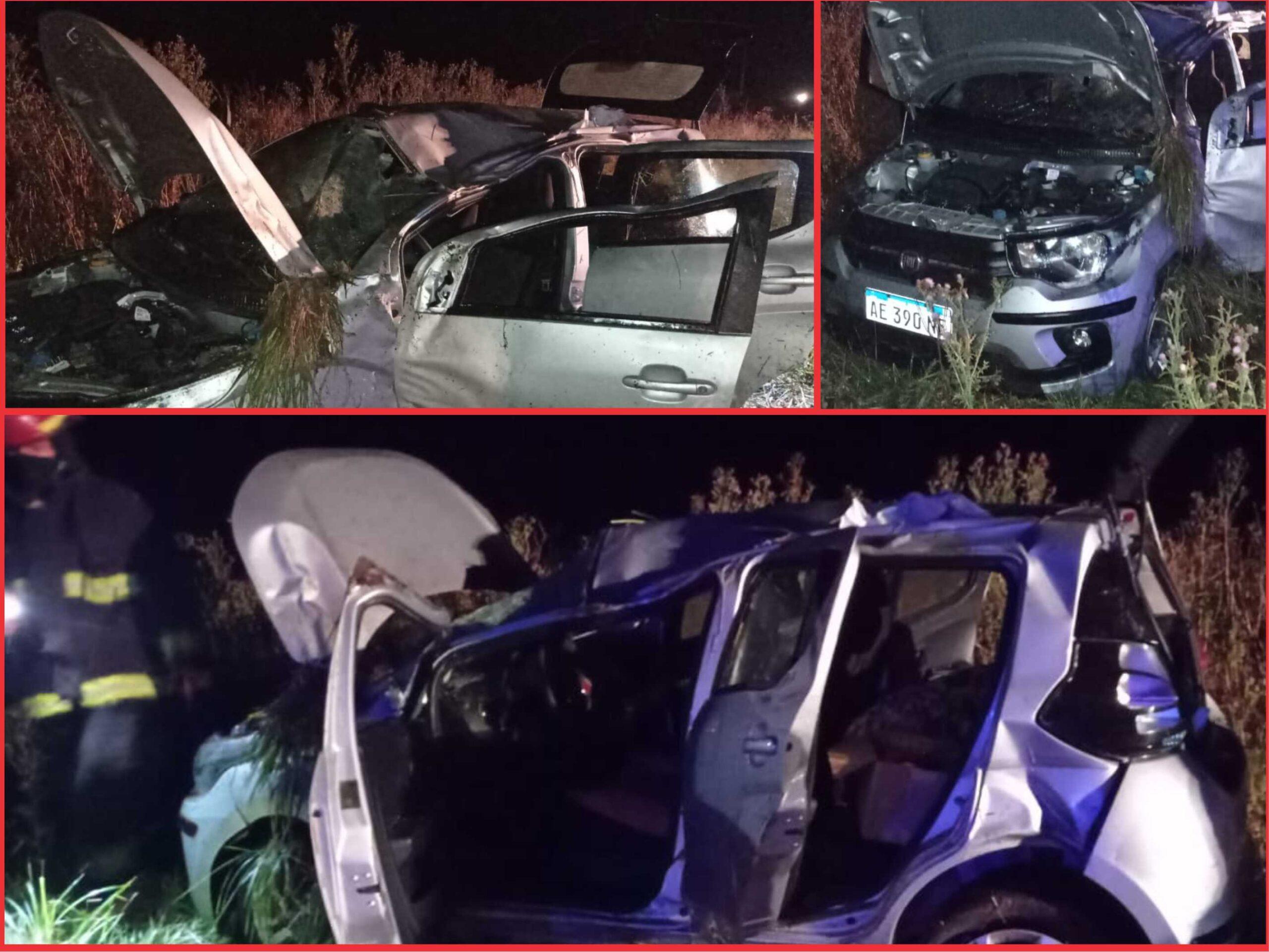 Dos heridos leves y un auto destruido camino a Claromecó