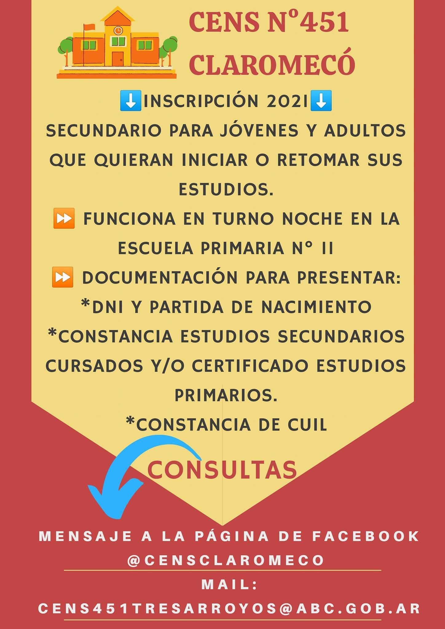 Abren inscripción para terminar el Secundario en Claromecó