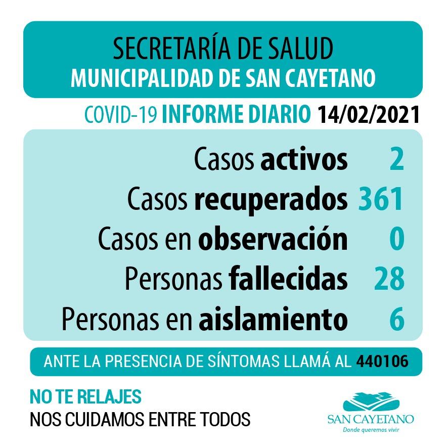 San Cayetano: dos casos pendientes resultaron negativos a coronavirus