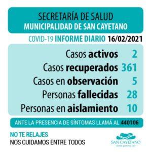 Covid-19 en San Cayetano: hay cinco casos en observación