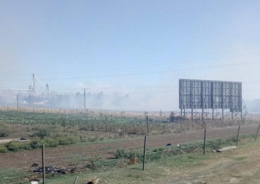 Bomberos combatieron incendio en predio lindero a la Ruta 228