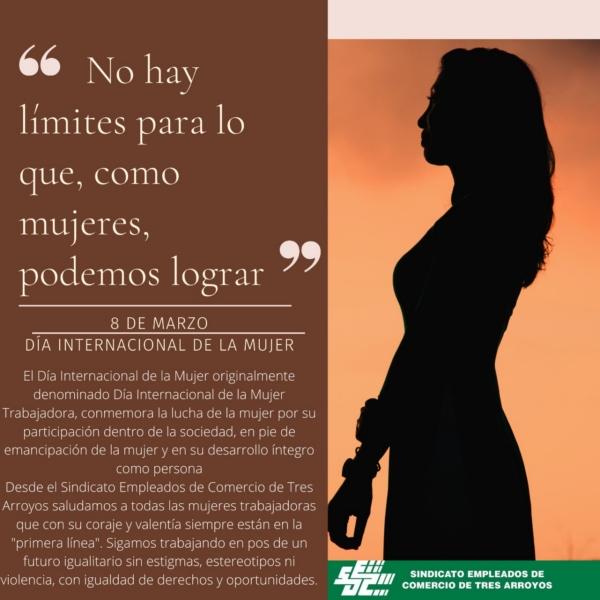 Saludo del Sindicato de Empleados de Comercio a las mujeres en su día